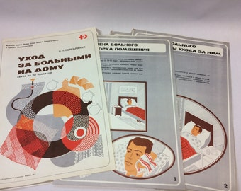 10pcs vintage first aid posters nursing posters medical posters soviet russia posters cold war era