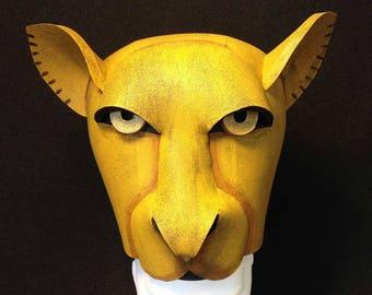 Nala Lioness, Lion King Hat. Sarabi or Sarafina. Handmade costume headdress for Child + Adult. Masquerade mask. Lion King Jr.