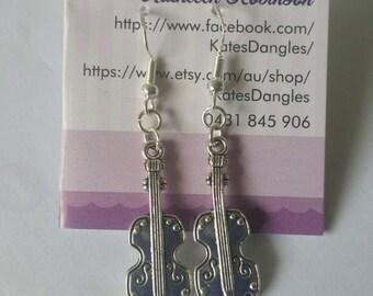 Guitar jewelry, music jewelry, guitar pendant, guitar earrings, music pendant, music pendant