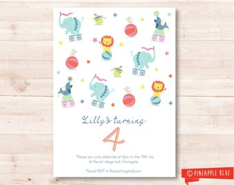 Printable circus party invitation | Kids invitation | Birthday invitation | Circus party invitation |  Baby party invitation