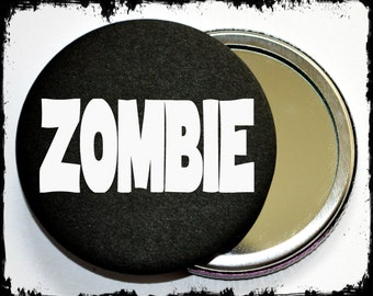 Zombie makeup mirror - zombie pocket mirror - zombie makeup tools - horror makeup mirror - pocket mirrors - gift ideas