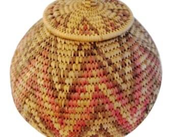 African Zulu Hand-Made Herb Basket