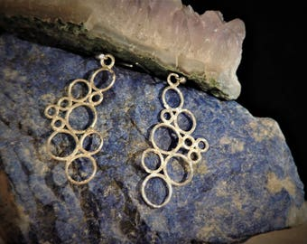 925 SILVER EARRINGS circles of light lost wax casting