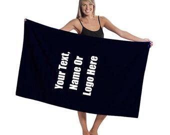 Custom Personalized Oversized Terry Velour Beach Towel
