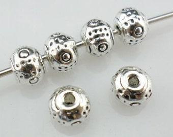 30/120/1000pcs Tibetan Silver Small Oblate Spacer Beads 5x4mm