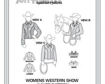 PDF Women's Princess Seam Western Show Jacket Pattern