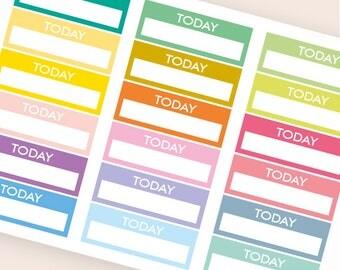 18 blank stickers, today bar sticker, box stickers, blank label, planner stickers, scrapbook reminder happy planner sticker