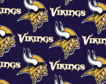 Minnesota Vikings Fabric- NFL - 100% Cotton High Quality Fabric- by Fabric Traditions