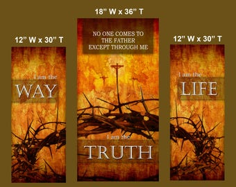 Way / Truth / Life  / Set of 3 Banners (G917)
