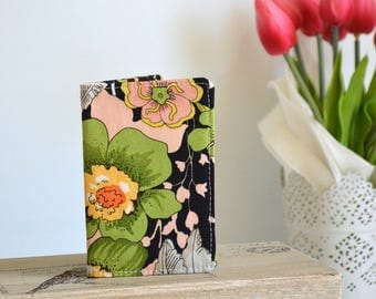 Business card wallet, credit card wallet, loyalty card wallet, coffee card wallet - Floral