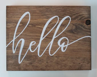 hello - sign