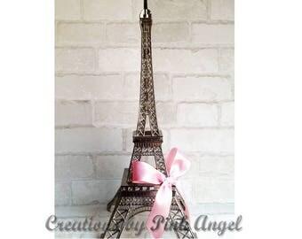 "19"" Eiffel Tower Centerpiece, Paris Wedding Decor, Paris Bridal Shower or Baby Shower, Parisian Wedding, Silver or Black Paris Eiffel Tower"