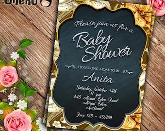 SALE 50% OFF Floral Baby Shower Invitation Printable - Personalized - Digital File - Baby Shower invite - girl/boy/neutral/gender neutral