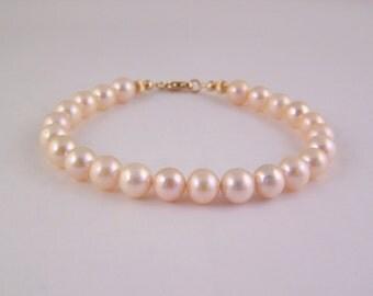 Fresh Water Pearl Gold Bracelet