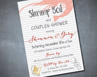 Couples Baby Shower & Shrimp Boil Invitation/DIGITAL FILE/printable/wording can be added or changed