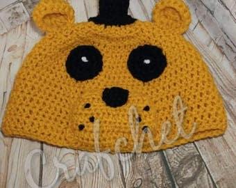 Golden Freddy / Fnaf / Beanie crochet / Five nights at freddy's beanie / Crochet golden freddy beanie