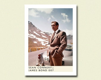 BUY 2 GET 1 FREE James Bond Sean Connery Print - James Bond Boster 007 Poster Retro Movie Poster Wall Decor Poster Old Movie Print Gift bp