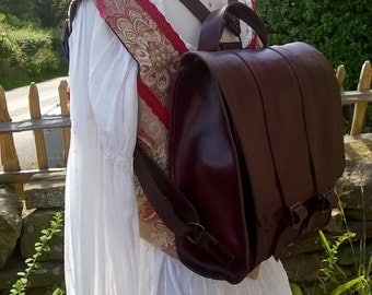 Quality Small Leather Back Pack. Ladies Leather Rucksack. The Daisy.