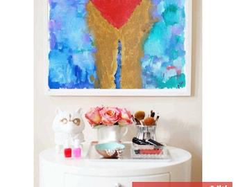 "Woman Fine Art Giclee Print ""Backstroke"" by NHthirteen"