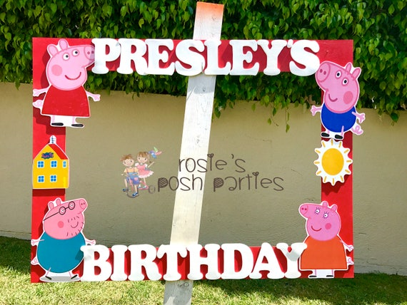 Peppa Pig photo booth Peppa Pig George birthday party photo booth or ...