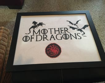 Mother of Dragons cross stitch