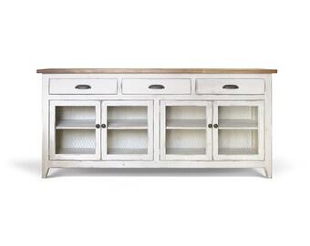 Sideboard, Media Console, Buffet, Reclaimed Wood, Console Cabinet, Farmhouse, Handmade, Rustic