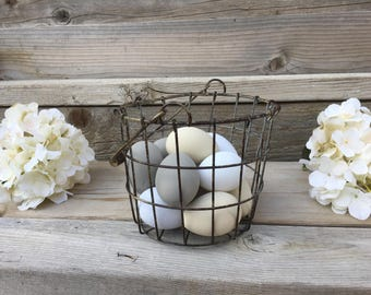 Wire Baskets, Small or Medium Basket, Farmhouse Wire Basket, Farmhouse Decor, Famhouse Accents, Farmhouse Table Decor, Shelf Decor, Rustic