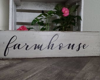 Wooden Farmhouse sign. Rustic Farmhouse sign.