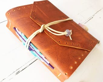 Leather Journal, Leather Bound Journal, Leather Notebook, Writing Journal, Journals for Women, Handmade Journal, Unlined Journal, Cute