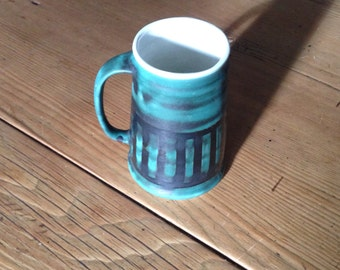 Rye Pottery Tankard decorated by hand 1960s