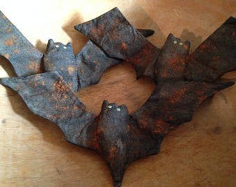 Primitive Halloween Bat Bowl Fillers