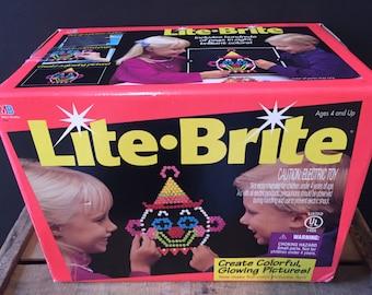 Vintage Lite Brite game complete brand new 1994, brand new complete lite brite game in box with instructions