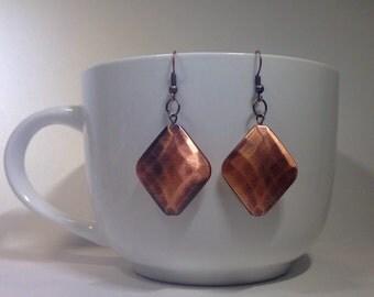 Copper Diamond Earrings