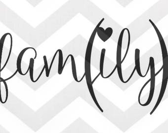 Digital Download-Family Love SVG file for personal cutting machines - instant download