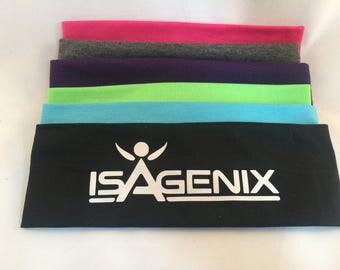 Isagenix Cotton Headbands set of 12, Assorted Colors - Stretch Elastic Headbands  Teens Women Girls, ISOBODY Workout