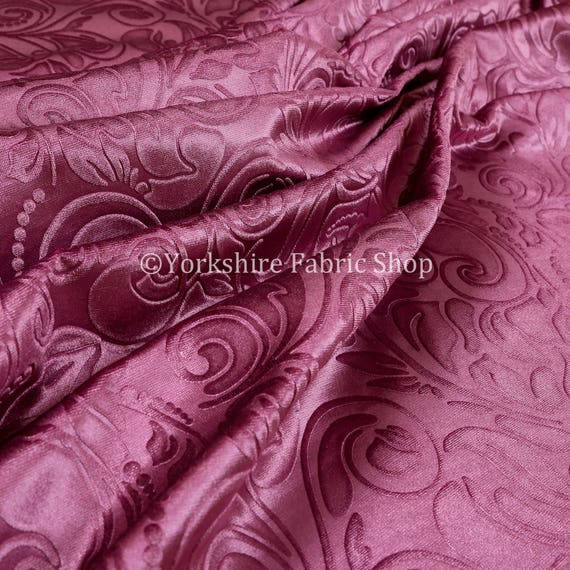 Shiny floral embossed pink lilac velvet pattern upholstery - Telas para tapiceria precios ...