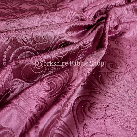 Shiny floral embossed pink lilac velvet pattern upholstery - Precio tapizar sofa ...