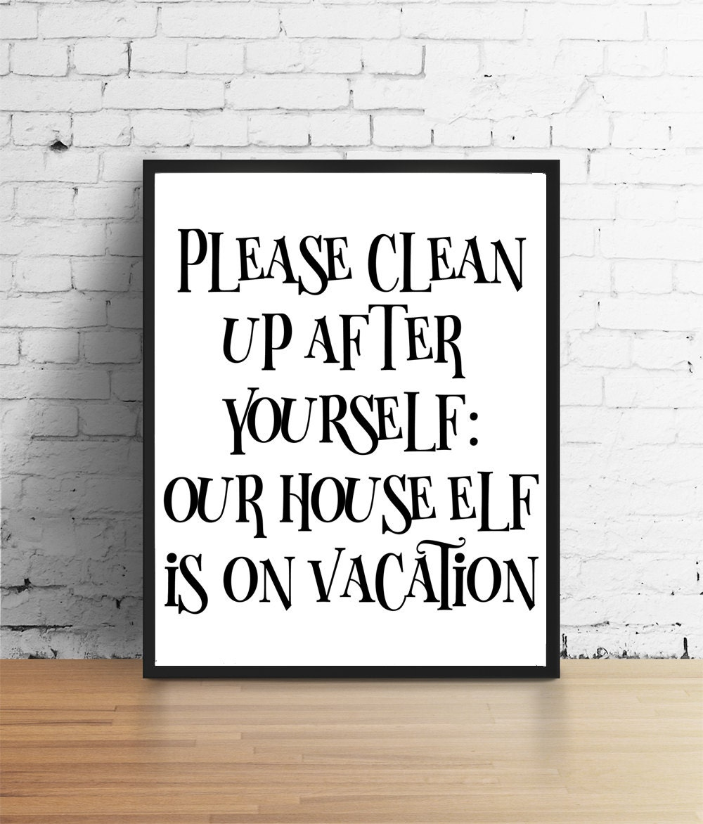 Funny Kitchen Wall Print Passive Aggressive Signs Snarky