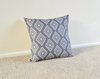 Grey Tribal/Geometric/Aztec/Scandi Cotton Linen Cushion/Pillow Cover