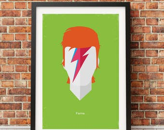 David Bowie Original Icon Print (Icon Series)