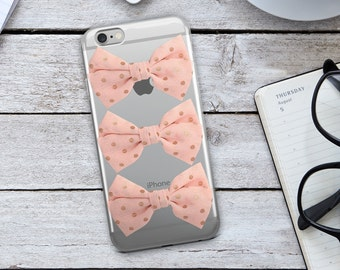 Pink Bow iPhone Case - Pink Bow Phone Case - Pink iPhone Case - Pink Bow - iPhone 7 Case - iPhone 6 Case - iPhone Case - Christmas Gift