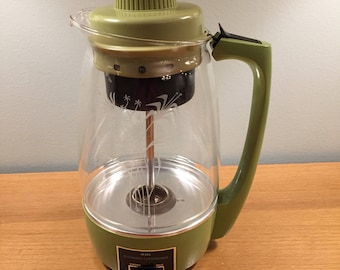 Vintage Sears 12 Cup Glass Percolator Coffee Pot