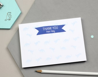 Personalised Dinosaur Thank You Notepad - Fun Design - Personalised Notepad - Personalised Stationery - Note Card