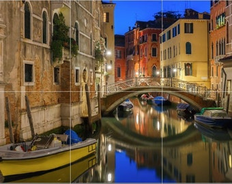 12 x 18 Ceramic Tile Mural Backsplash Street in Venice Italy 489