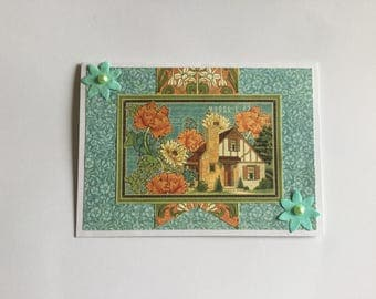 Pop up card, house warming card, new house greeting card, birthday card, Graphic 45 card, gift card, all occasions, note card