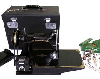 Vintage Singer 221 1 Sewing Machine