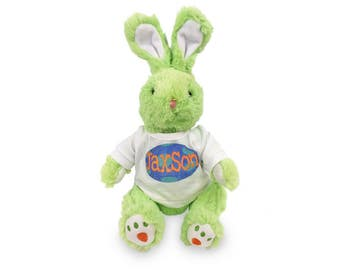 "Personalized Carrot Paw Easter Bunny 14 "" - Green"
