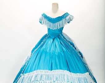 Civil war ball gown - 19 th century gown - dress with Crinoline - nineteenth PALMAROLI ball