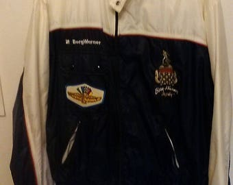 90's Indy 500 racing jacket Borg Warner trophy size XXL made by holloway/speedway