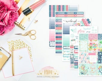Coastal Crush Weekly Kit | Planner Stickers designed for use with the Erin Condren Life Planner